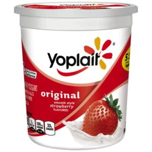 Yoplait Strawberry Yogurt with carmine