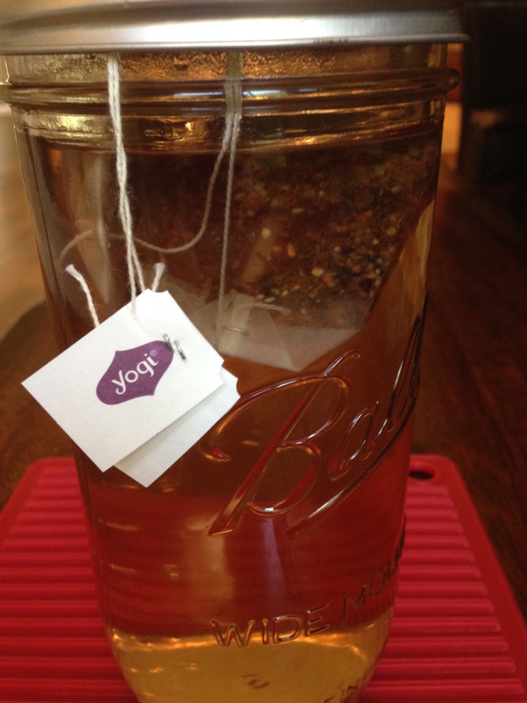 Cranberry Spice Probiotic Blend Tea Brewing copy
