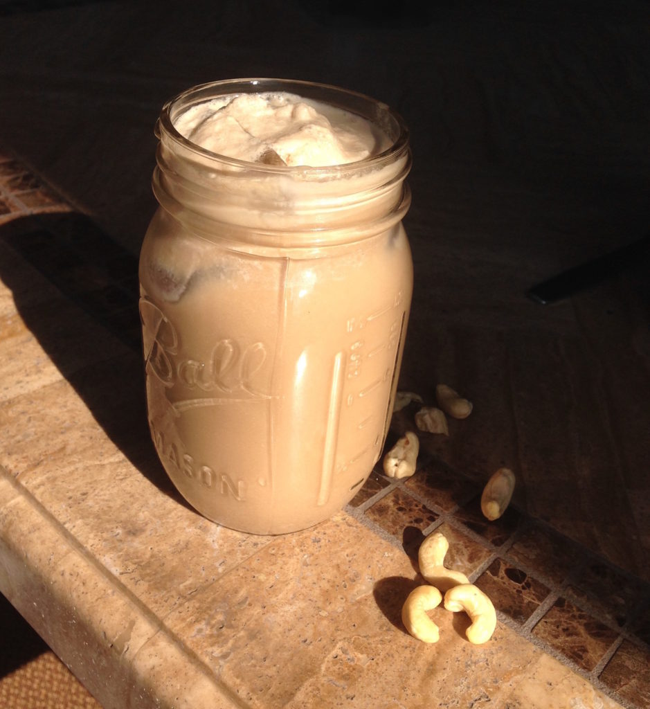 Iced Cashew Coffee with Stevia and coconut milk copy