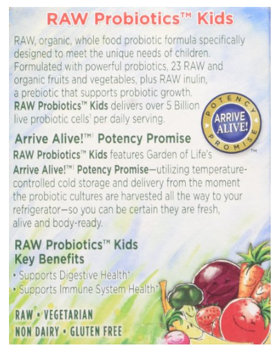 Probiotic Garden of Life RAW Probiotics Kids 34 oz Powder