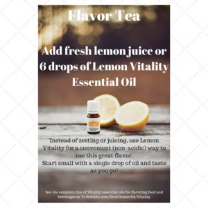 YL GBW Lemon Vitality to flavor Tea