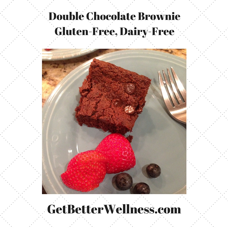 Double Chocolate BrownieGluten-Free, Dairy-Free