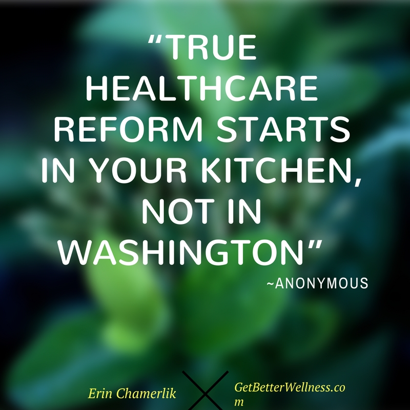 True healthcare reform starts in your kitchen