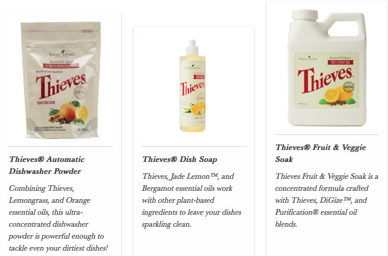 Thieves Dish Soap, Veggie Wash, Cough Drops
