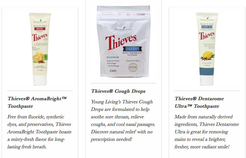 Thieves Toothpaste cough drops Young Living