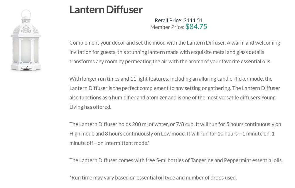 YL Lantern Diffuser